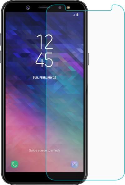 Case 4U Samsung Galaxy A6 Plus 2018 Ekran Koruyucu Temperli Cam