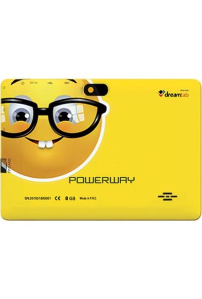 """Powerway DRN-X500 8GB 7"""" Emoji Tablet - Gözlük"""