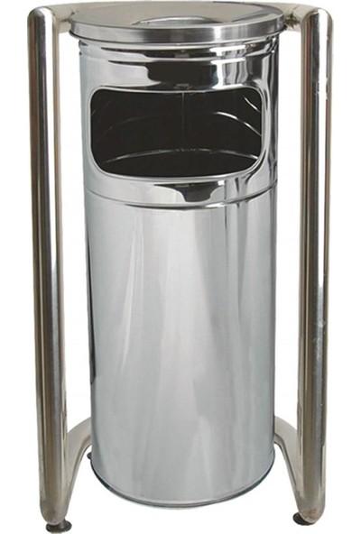 Palex 3560-1 Bahçe Tipi Çöp Kovası U Tipi Krom