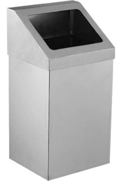 Palex 3834-316 Krom Açık Çatı Kapaklı Çöp Kovası 16 LT