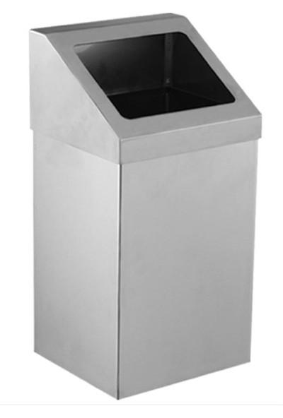 Palex 3834-380 Krom Açık Çatı Kapaklı Çöp Kovası 80 LT