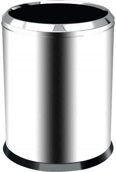 Palex 3820-16 Krom Çemberli Çöp Kovası 16 LT