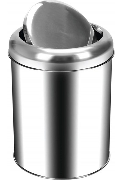 Palex 3822-5 Krom Pratik Kapaklı Çöp Kovası 5 LT