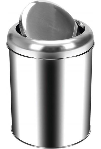 Palex 3822-16 Krom Pratik Kapaklı Çöp Kovası 16 LT
