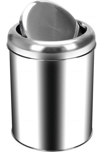 Palex 3822-20 Krom Pratik Kapaklı Çöp Kovası 20 LT