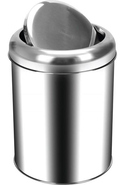 Palex 3822-45 Krom Pratik Kapaklı Çöp Kovası 45 LT