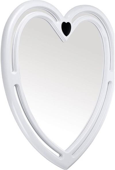 Çelik Ayna CLK613 Dekoratif Kalp Plastik Ayna