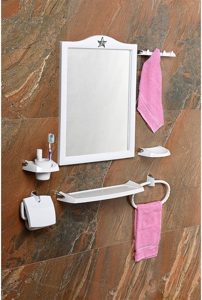 Çelik Ayna CLK614 Taç Ayna Seti
