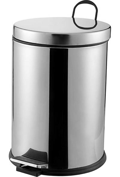 Çelik Ayna CLK708 12 LT Pedallı Krom Çöp Kovası