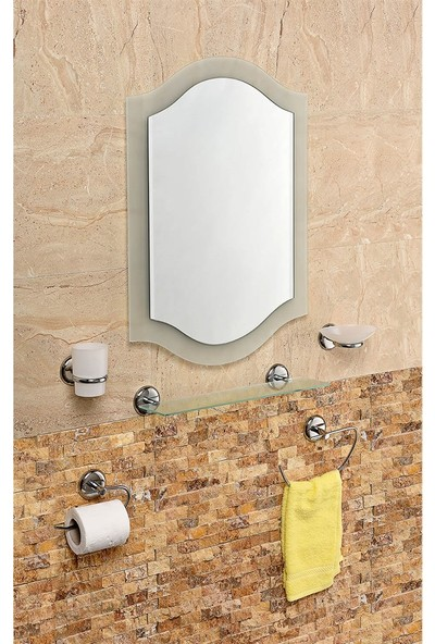 Çelik Ayna CLK811 Eko Çift Cam Papatya Ayna Seti