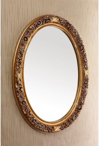 Çelik Ayna CLK832 Dekoratif Güllü Varak Ayna
