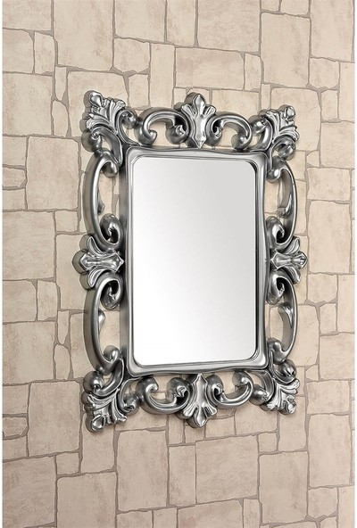 Çelik Ayna CLK884 Dekoratif Kare Ayna Boyalı