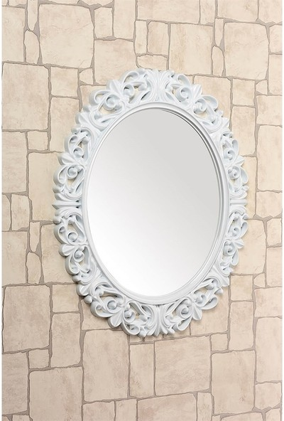 Çelik Ayna CLK885 Dekoratif Oval Ayna Plastik