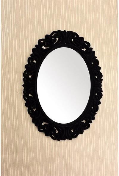 Çelik Ayna CLK896 Dekoratif Oval Ayna Kadife