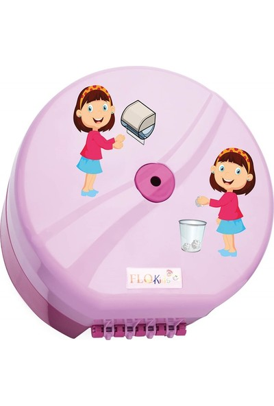Flokids F332 Mini Pinti Wc Kağıt Dispenseri Pembe