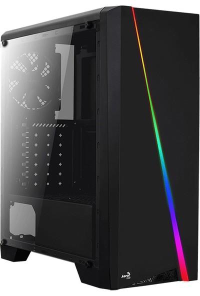 Aerocool Cylon RGB Akrilik Panel USB 3.0 Siyah ATX Kasa (AE-CYLN)