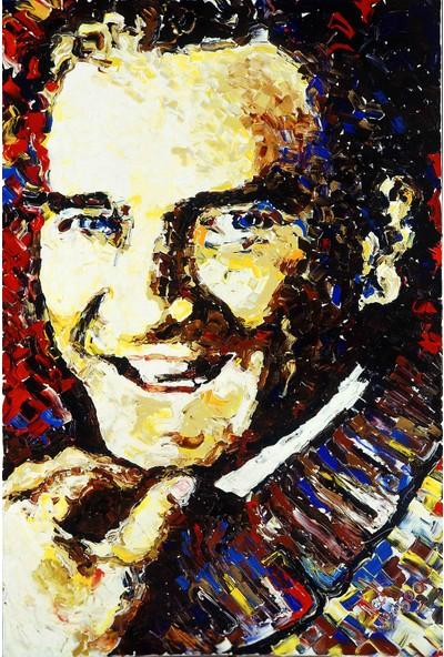 Cepmedya Yağlı Boya Tarzı Atatürk Kanvas Tablo