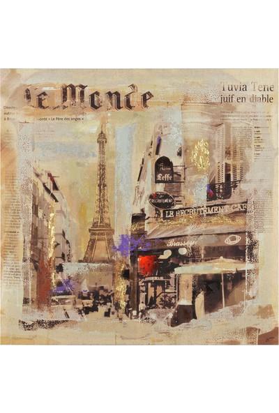Cepmedya Le Monde Eiffel Temalı 50X50 Kanvas Tablo