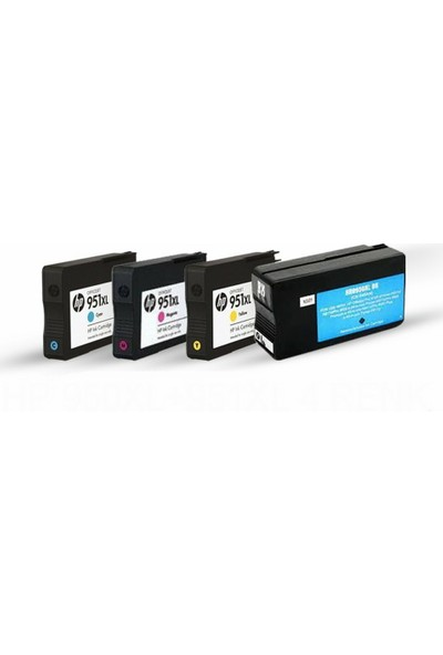 Photo Pri̇nt HP 950XL/951XL 4 Renk Pro 8620/8610/8600/8100/251DW Muadil Kartuş Seti
