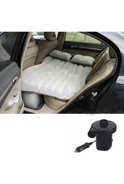 Shibo Şişme Araba Koltuğu Yatağı + Araç Pompası