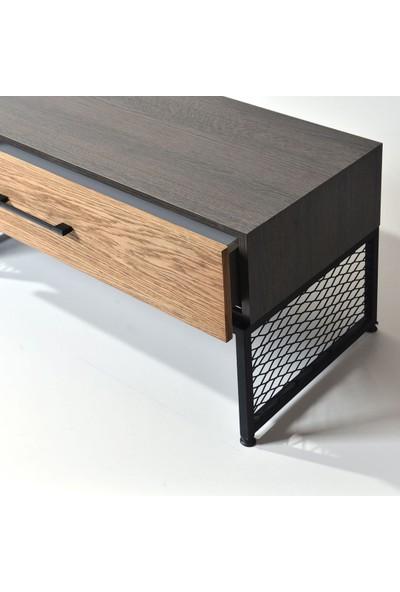 Ahşap Sokağı Pearson Metal Ayaklı Tv Sehpası 180 cm