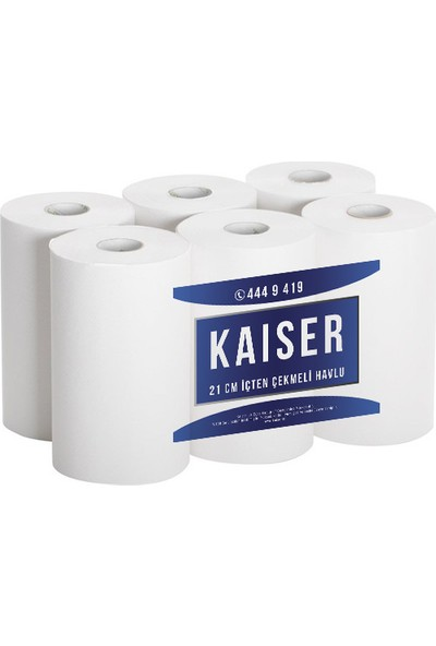 Kaiser 21 cm İçten Çekme Havlu 6 Rulo