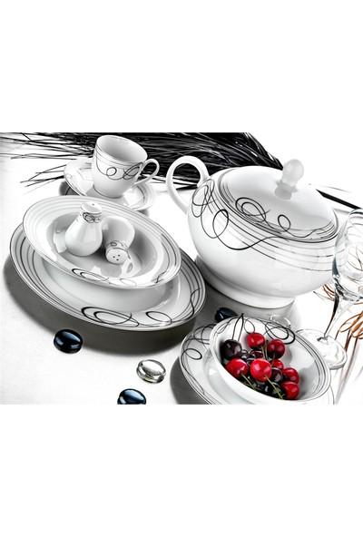 Evimsaray SRY-03 Porselen Yemek Takımı 86 Parça