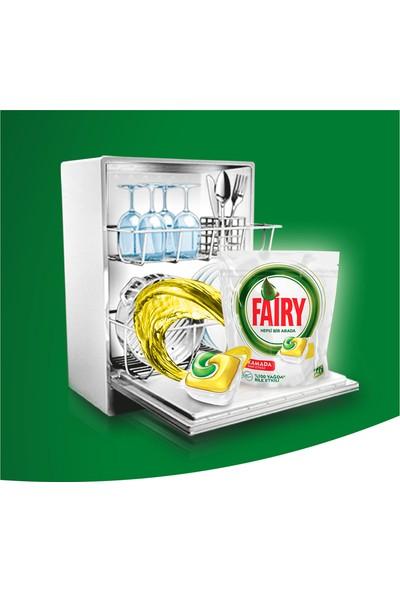 Fairy Hepsi Bir Arada 84 Yıkama Bulaşık Makinesi Deterjanı Kapsülü Limon Kokulu