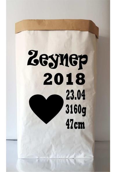 Bugy Bagy İsme Özel Doğum Günü Kişiselleştirilebilir Paperbag Dekoratif Oyuncak Saklama Kutusu