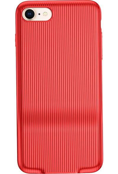 Baseus iPhone 7 Audio Serisi Çift Şarj Girişli Sert PC Kılıf Kırmızı + Ekran Koruyucu