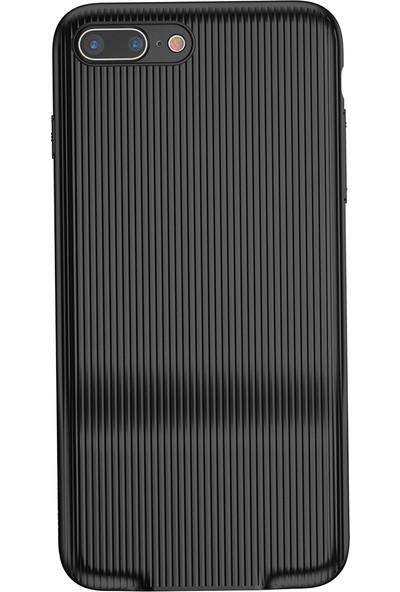 Baseus iPhone 7 Plus Audio Serisi Çift Şarj Girişli Sert PC Kılıf Siyah + Ekran Koruyucu
