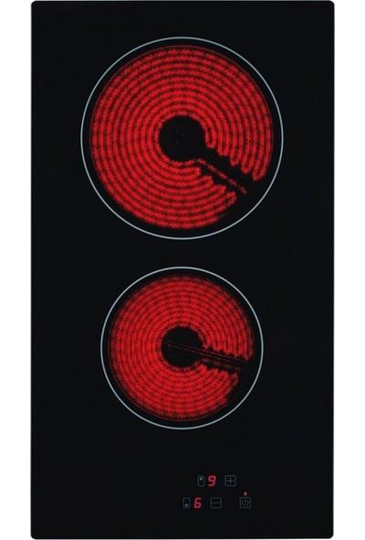 Eminçelik Vc 320 2 Gözü Elektrikli Vitro Seramik Siyah Cam Domino