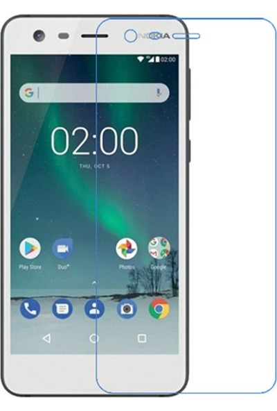 Microcase Nokia 2 Tempered Glass Cam Ekran Koruma