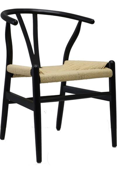 Moda4Home Wishbone %100 Masif İplik Örgülü Sandalye