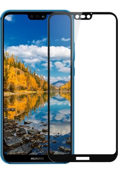 Sunix Huawei P20 Lite 3D Kavisli Cam Koruyucu
