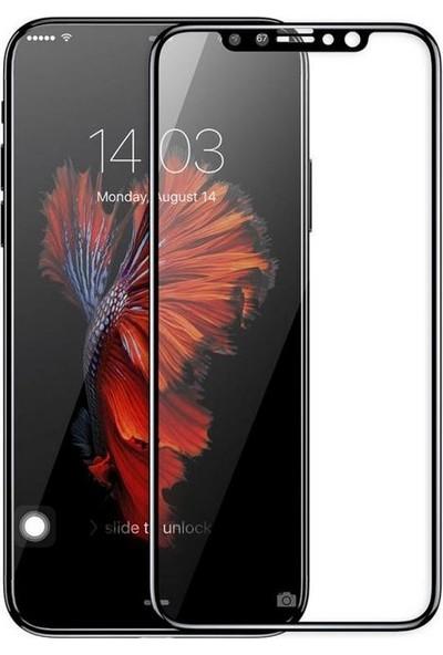 Sunix Apple iPhone X 3D Kavisli Cam Koruyucu Siyah