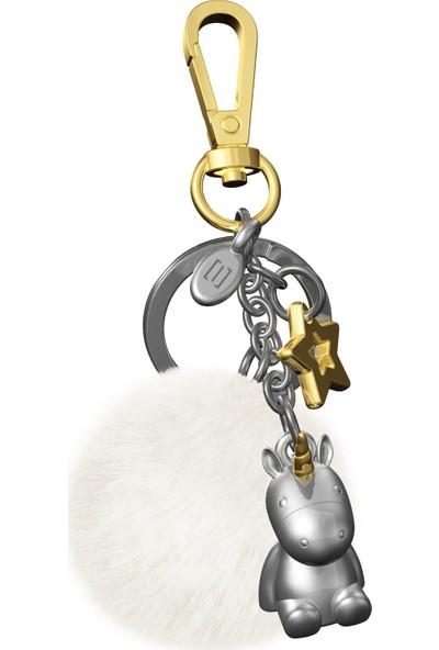 Saygan Unicorn Fantezi Charm Anahtarlık - Peluşlu