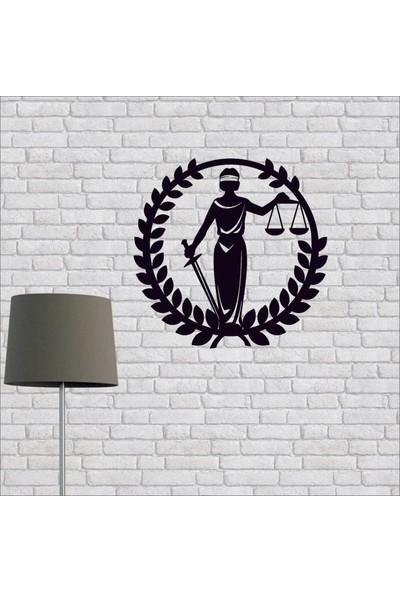 Artmoon Design Adalet Sembolü Metal Tablo Duvar Dekor