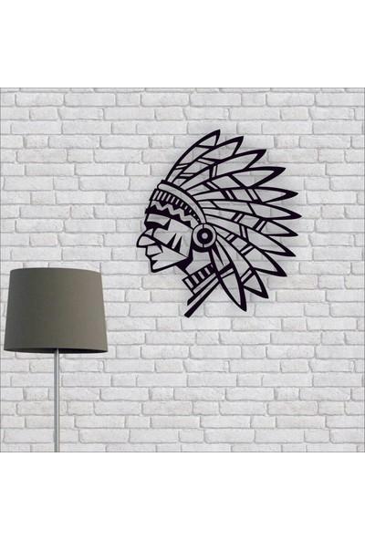 Artmoon Design Kızılderili Metal Tablo Duvar Dekor