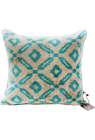 Demeter Tekstil Tasarım İpek İkat Dekoratif Yastık