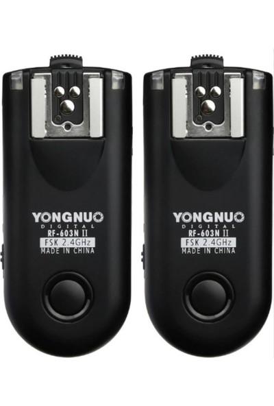 Yongnuo RF 603 N II Nikon Uyumlu 1+1 Flaş Tetikleyici
