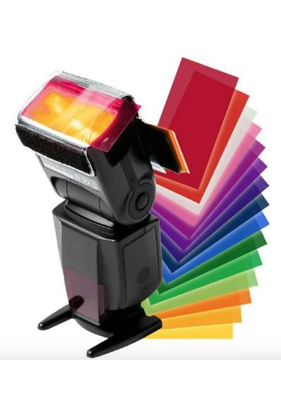 Tepe Flaşları Uyumlu Renkli Filtre Seti ( 12 Renk )