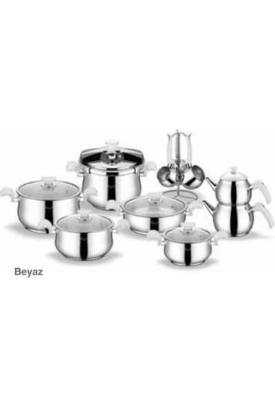 Berf 18 Parça Yakamoz Collection Çelik Çeyiz Tencere Takımı
