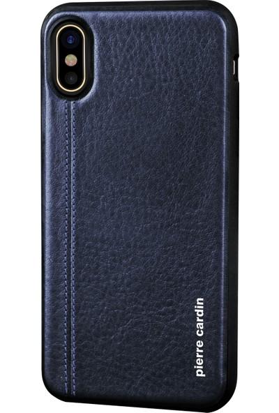 Pierre Cardin PCS-S02 iPhone X Arka Kapak - Lacivert