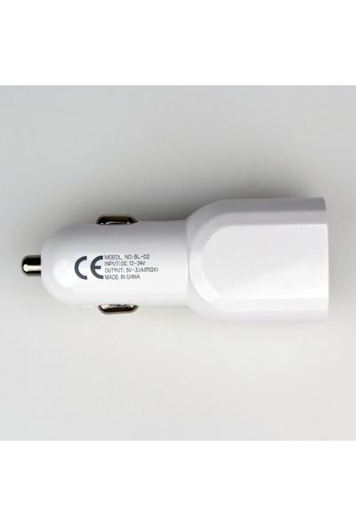 Powerstar Araç İçi Cep Telefonu Şarj Aleti 3.1 Amper 2 USB Çakmaklık Şarjı