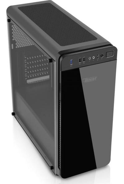 Power Boost VK-G1030RGB USB 3.0 Tempered Glass Pencereli RGB Fanlı Oyuncu Kasa (PSU Yok) (JBST-VKG1030RGB)