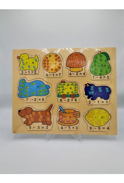 Rasyonel Ahşap Puzzle Matematik Abc-0017