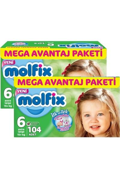 Molfix 3D Extra Large Mega Avantaj Paketi 6 Beden 208 Adet