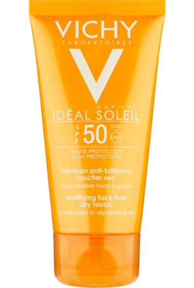 Vichy Ideal Soleil Dry Touch Spf50 50 Ml Yüz Ve Dekolte Bölgesi İçin Yüksek Korumalı Emülsiyon Spf 50