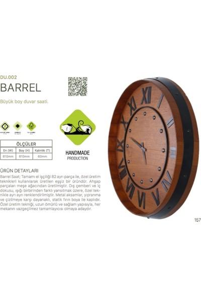 Woodenplus El Yapımı Ahşap Duvar Saati